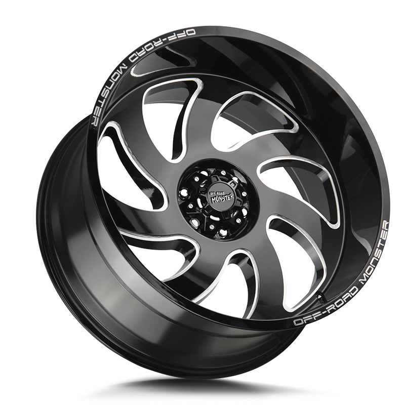 The M07 Wheel by Off Road Monster in Gloss Black Milled