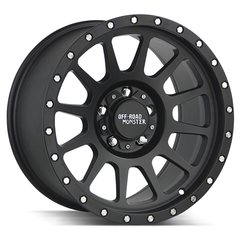 The M10 Wheel by Off Road Monster in Flat Black