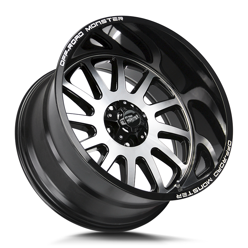 The M17 Wheel by Off Road Monster in Gloss Black Machined
