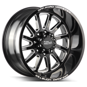 The M17 Wheel by Off Road Monster in Gloss Black Milled