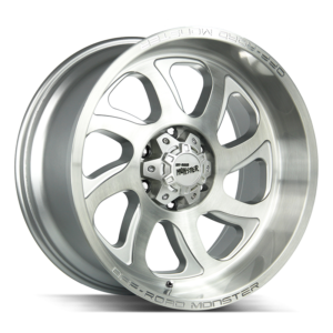 The M22 Wheel by Off Road Monster in Brushed Face Silver