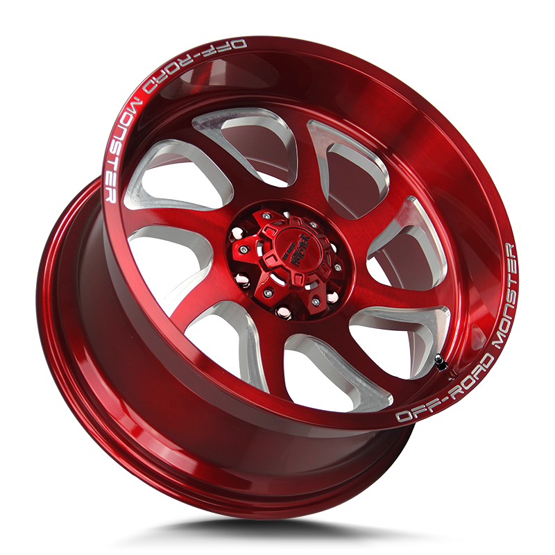 The M22 Wheel by Off Road Monster in Candy Red