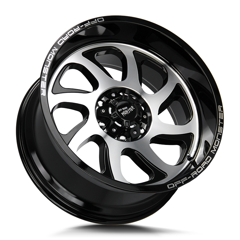 The M22 Wheel by Off Road Monster in Gloss Black Machined