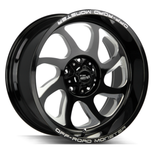 The M22 Wheel by Off Road Monster in Gloss Black Milled