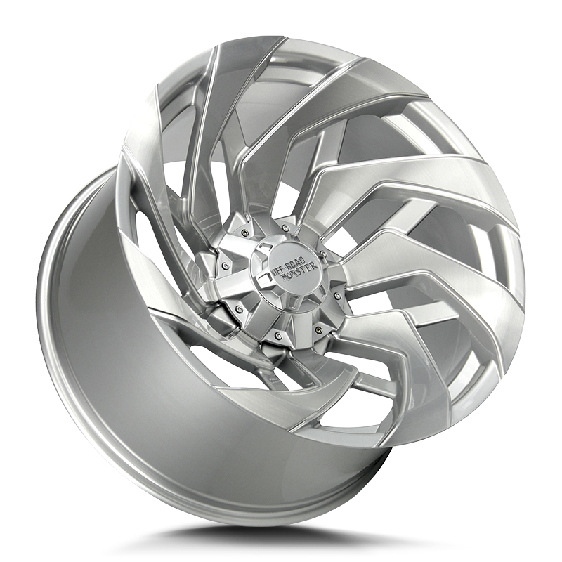 The M24 Wheel by Off Road Monster in Brushed Face Silver