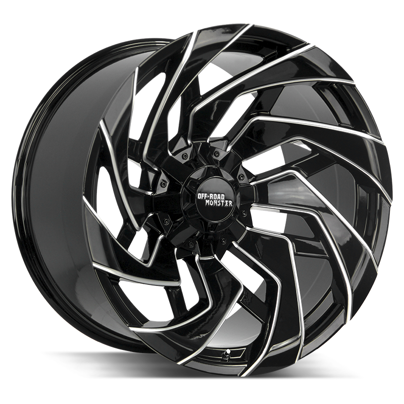 The M24 Wheel by Off Road Monster in Gloss Black Milled