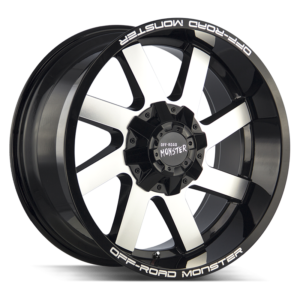 The M80 Wheel by Off Road Monster in Gloss Black Machined