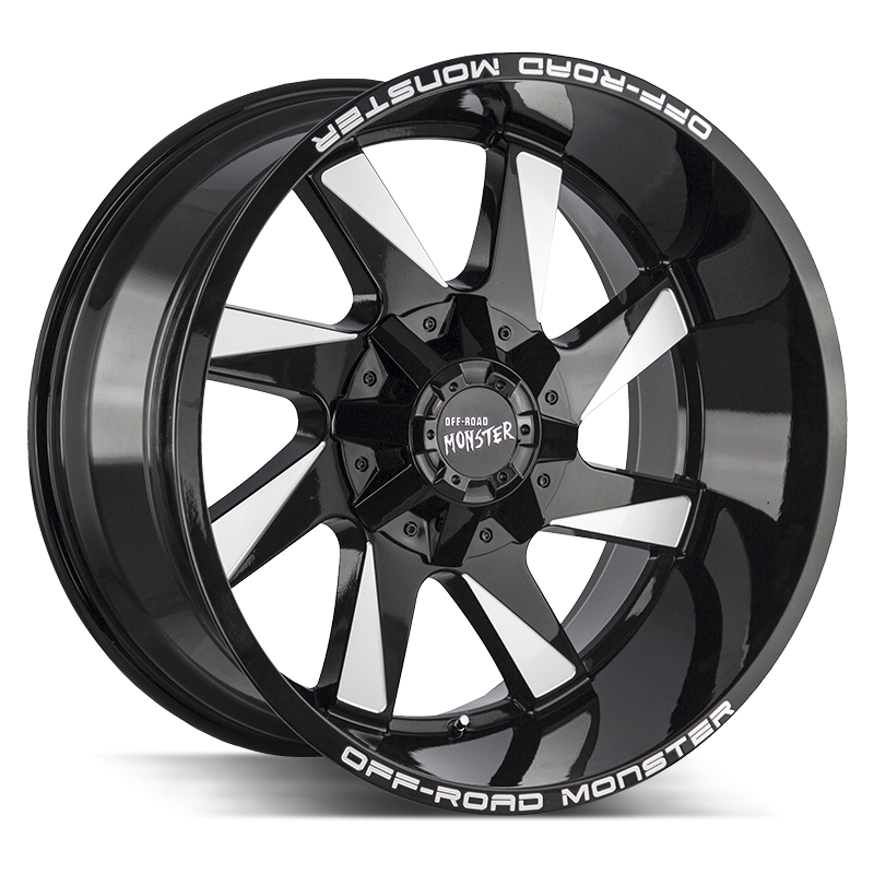 The M80 Wheel by Off Road Monster in Gloss Black Milled