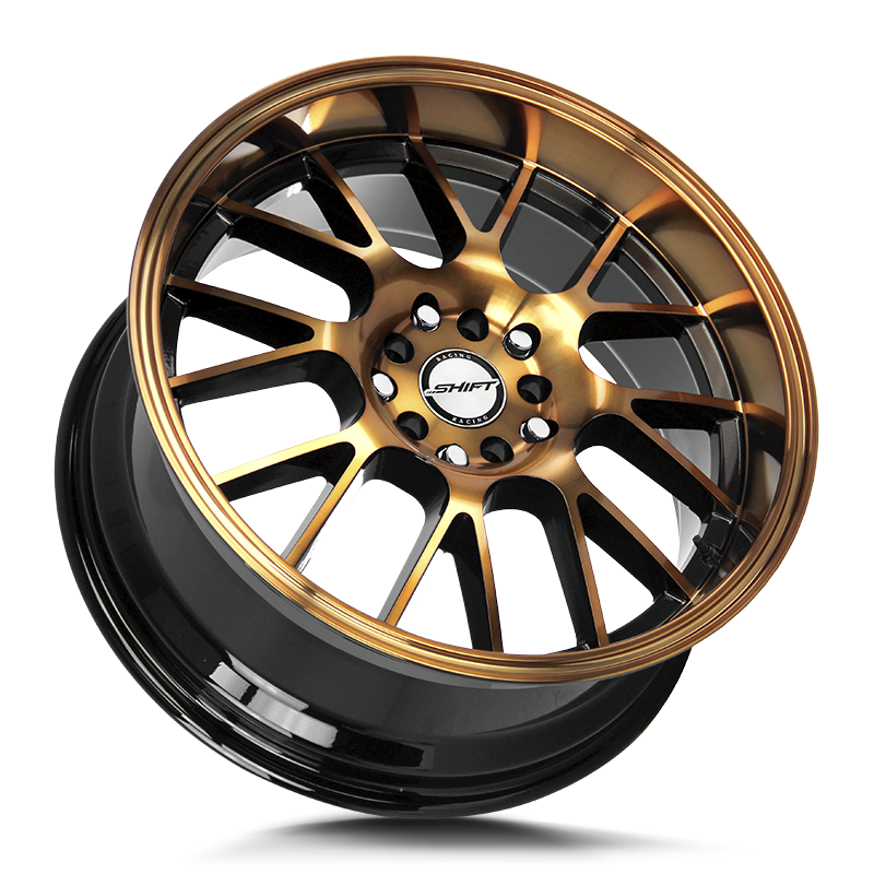 The Crank Wheel by Shift in Black Machined Bronze