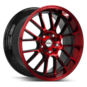 The Crank Wheel by Shift in Gloss Black Candy Red Machine