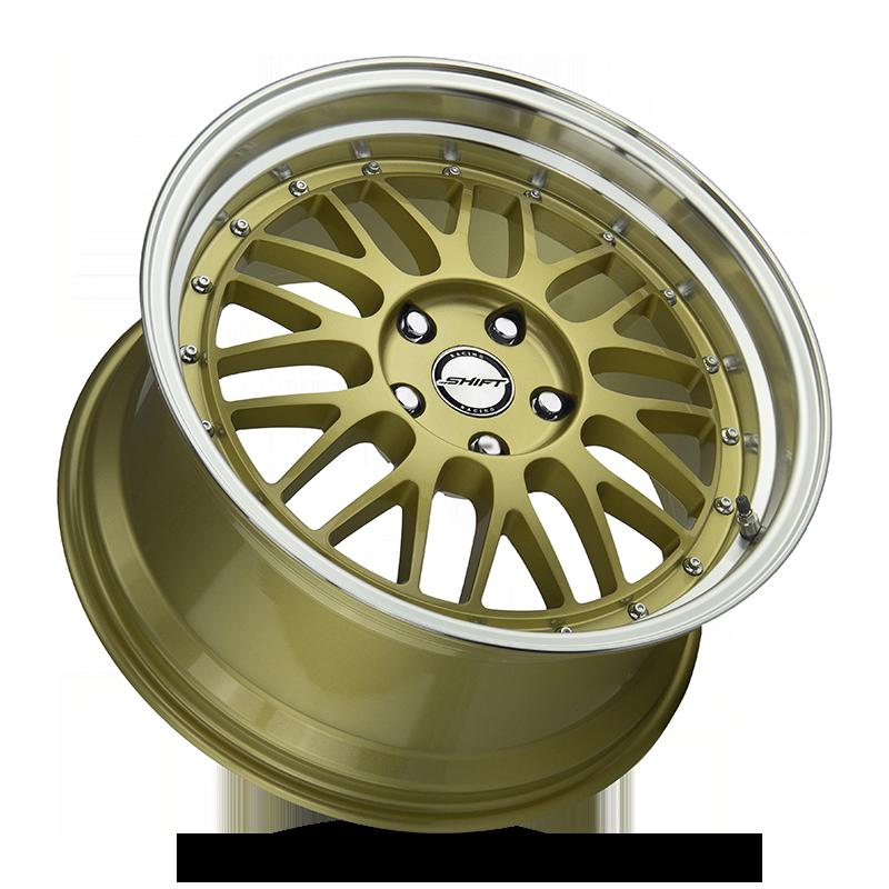The Flywheel Wheel by Shift in Gold Polished Lip
