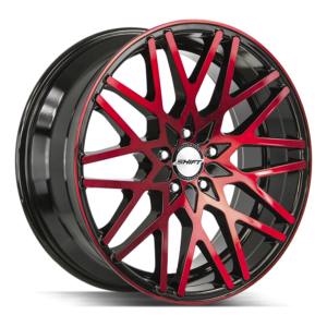 The Formula Wheel by Shift in Gloss Black Candy Red Machine