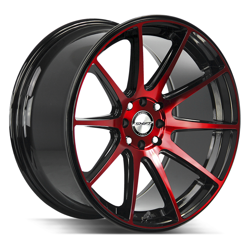 The Gear Wheel by Shift in Gloss Black Candy Red Machine