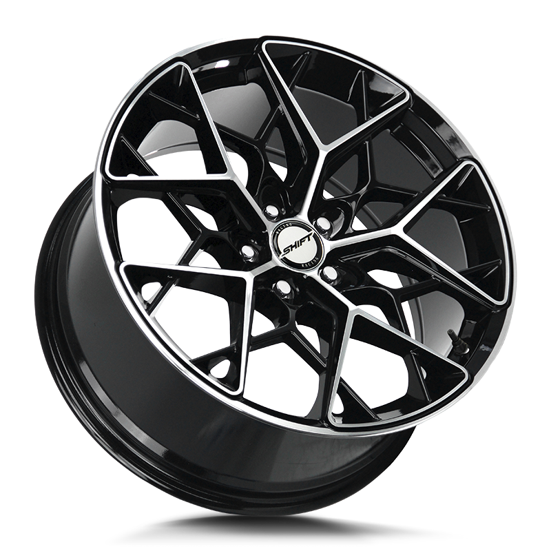The Piston Wheel by Shift in Gloss Black Machined
