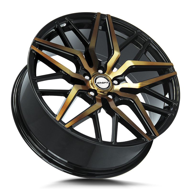 The Spring Wheel by Shift in Black Machined Bronze