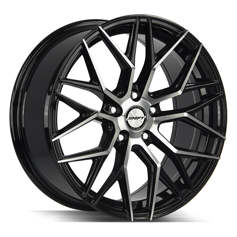 The Spring Wheel by Shift in Gloss Black Machined