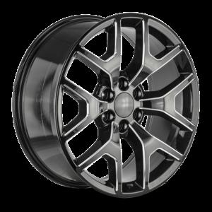 The GMC Sierra Wheel by Strada OE Replica in Gloss Black Milled