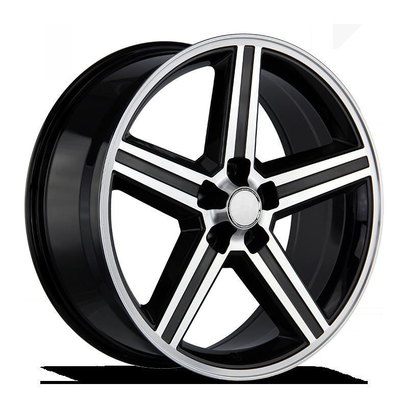The Iroc Wheel by Strada OE Replica in Gloss Black Machined