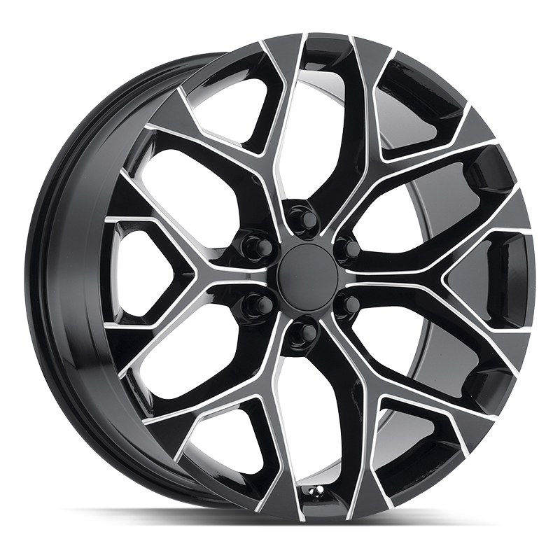 The Snowflake Wheel by Strada OE Replica in All Gloss Black