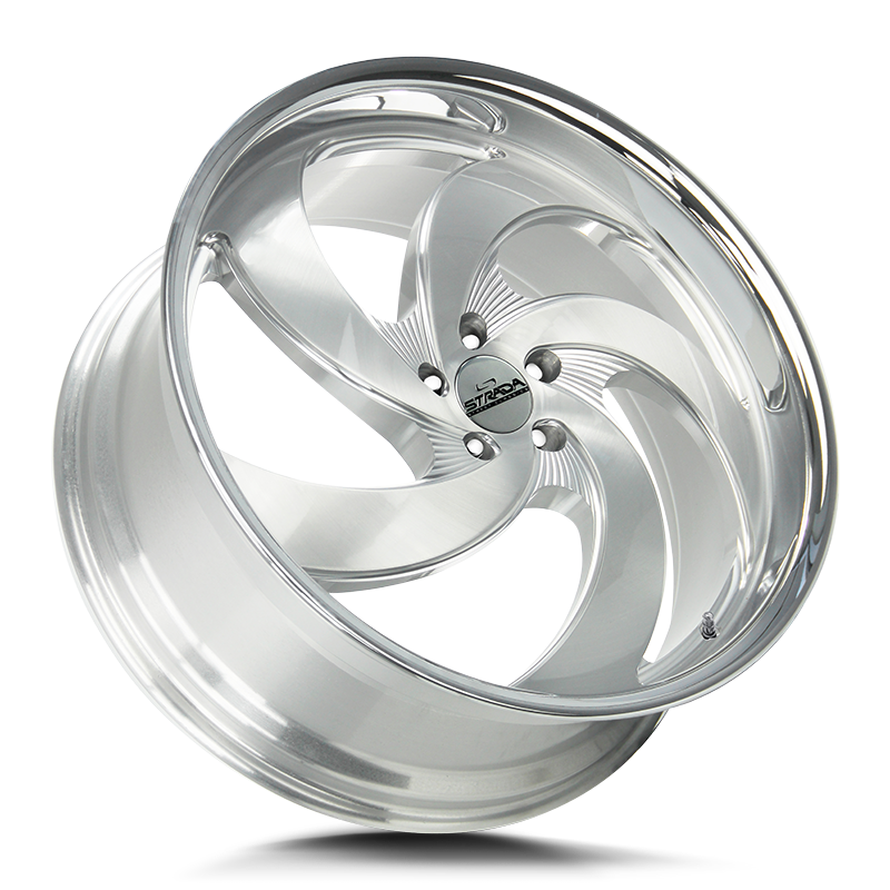 The Retro 5 Wheel by Strada Street Classics in Brushed Face Silver Milled SS