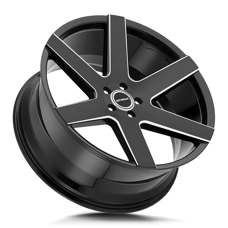 The Coda Wheel by Strada in Gloss Black Milled