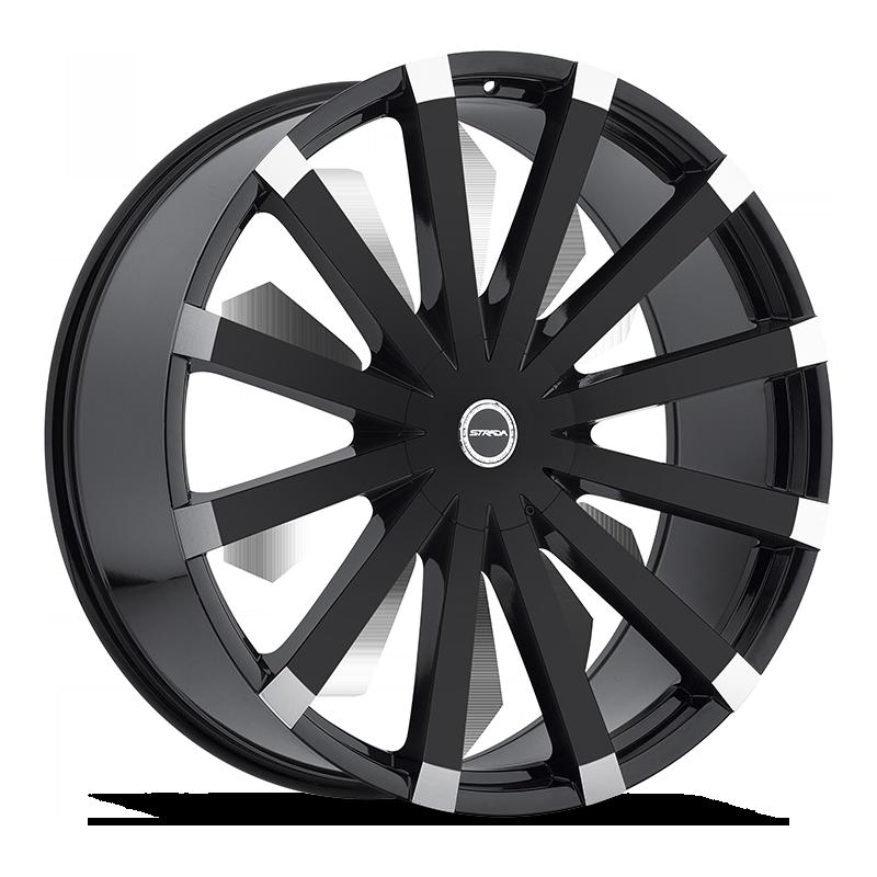 The Gabbia Wheel by Strada in Gloss Black Machined Tips