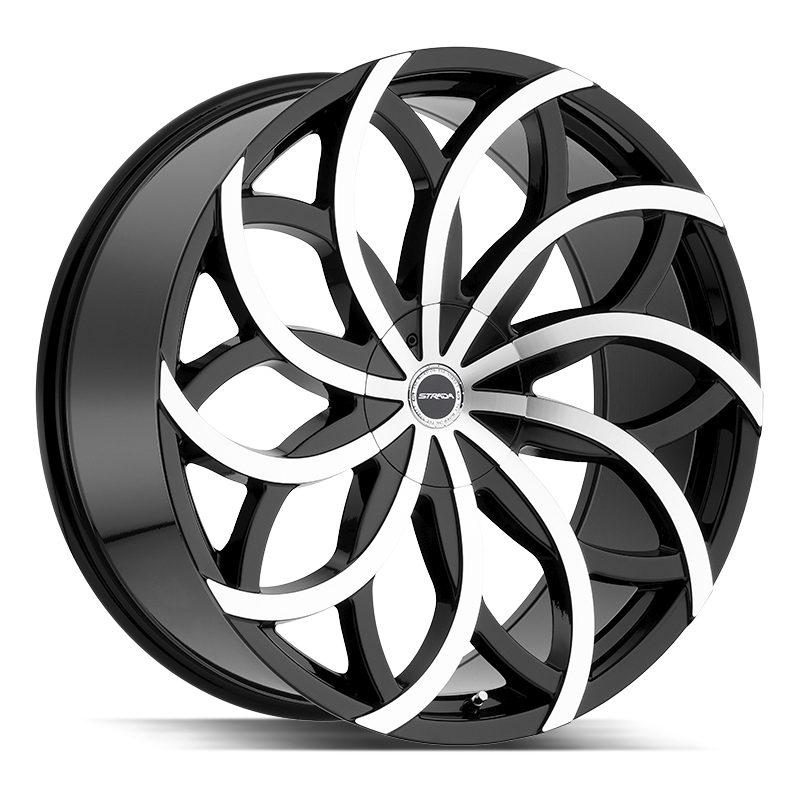 The Huracan Wheel by Strada in Gloss Black Machined
