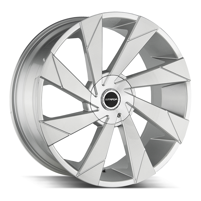 The Moto Wheel by Strada in Brushed Face Silver
