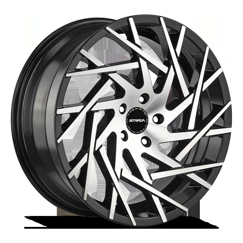 The Nido Wheel by Strada in Gloss Black Machined