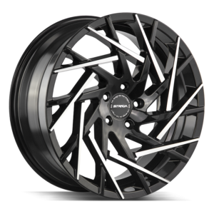 The Nido Wheel by Strada in Gloss Black Machined Tips