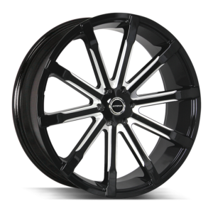The Osso Wheel by Strada in Gloss Black Milled