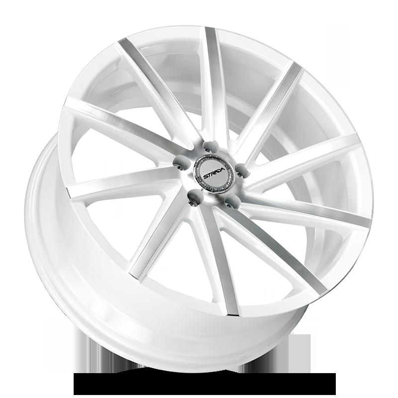 The Sega Wheel by Strada in White Machined
