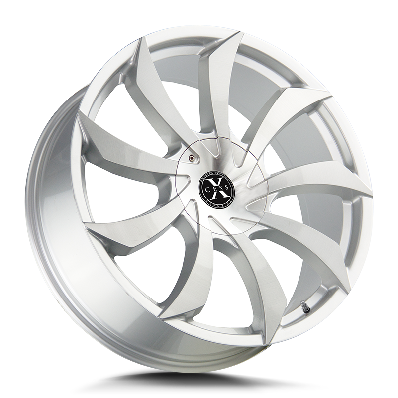 The X01 Wheel by Xcess in Brushed Face Silver