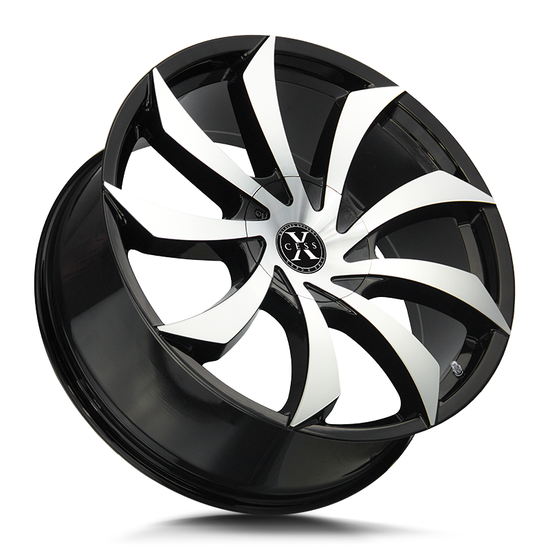 The X01 Wheel by Xcess in Gloss Black Machined