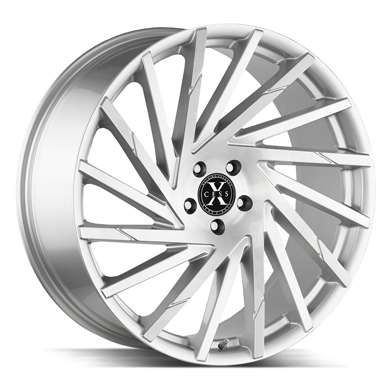 The X02 Wheel by Xcess in Brushed Face Silver