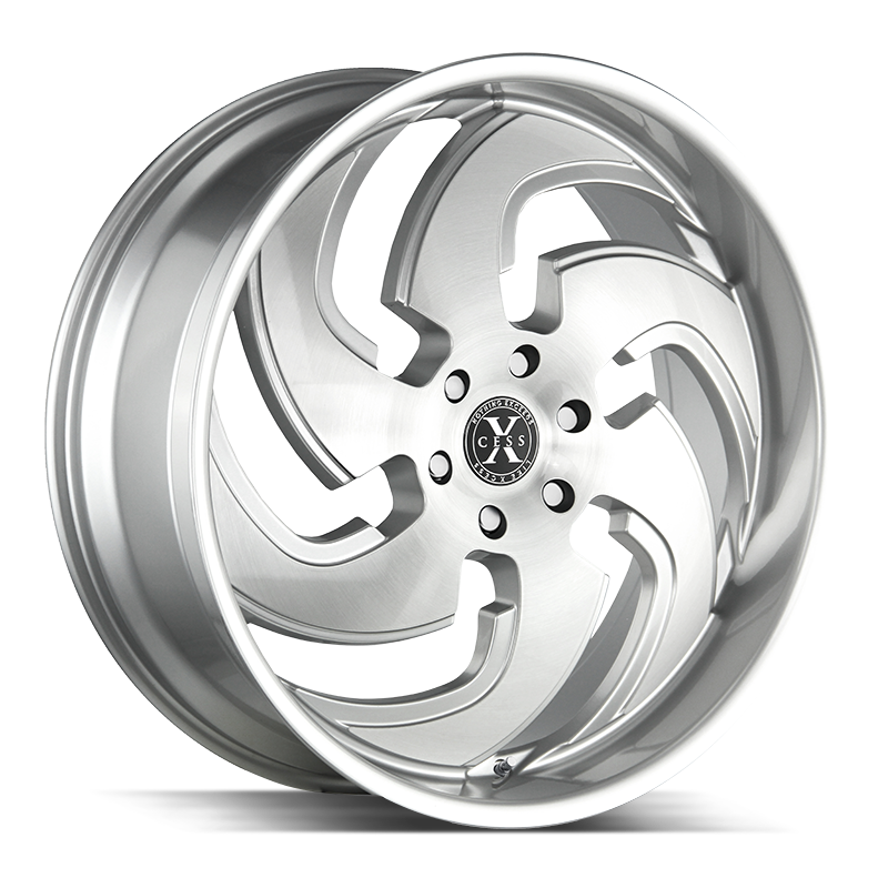 The X03 Wheel by Xcess in Brushed Face Silver