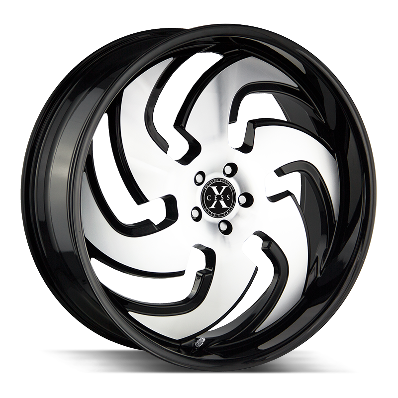 The X03 Wheel by Xcess in Gloss Black Machined