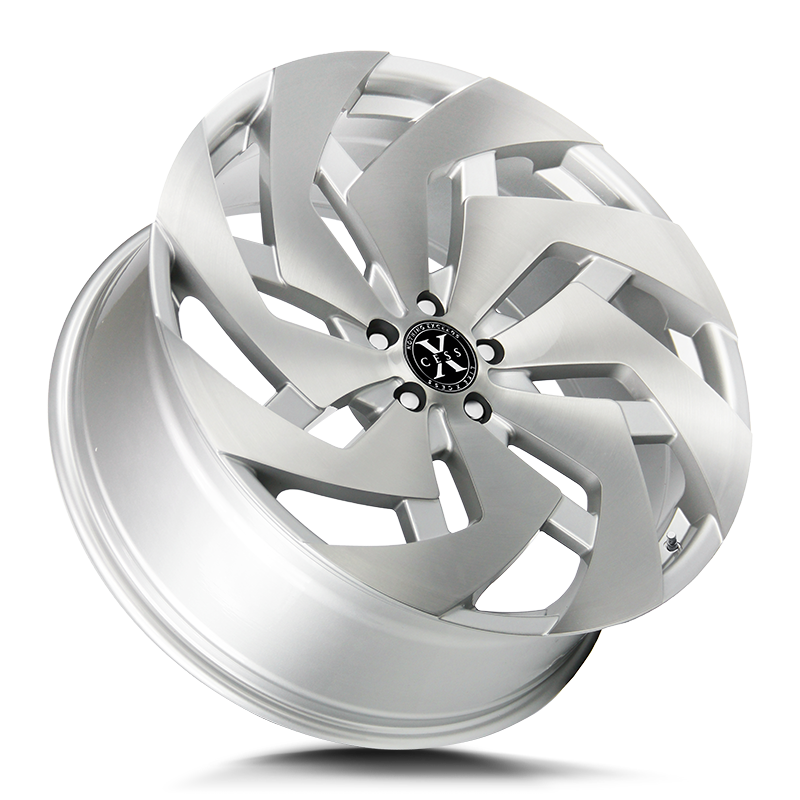 The X04 Wheel by Xcess in Brushed Face Silver