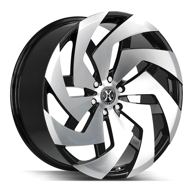 The X04 Wheel by Xcess in Gloss Black Machined